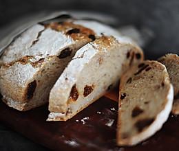 健身懒狗的微糖免揉无油无花果核桃全麦乡村面包的做法