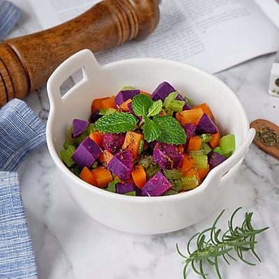 红酒醋芹菜紫薯胡萝卜沙拉
