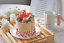 草莓蛋糕(4寸加高)#年味十足的中式面点#的做法