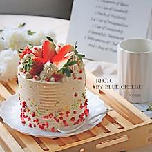 草莓蛋糕(4寸加高)#年味十足的中式面点#