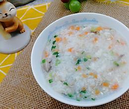 #美食视频挑战赛#小鹿优鲜-鳕鱼香菇粥的做法