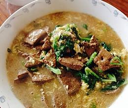 补血油菜猪肝汤的做法