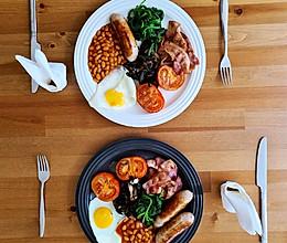 英伦风满满的全英式早餐的做法