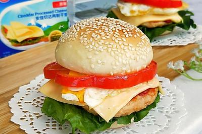 #安佳儿童创意料理#美味芝士汉堡