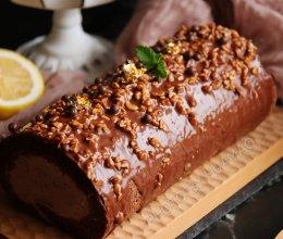 脆皮巧克力梦龙蛋糕卷的做法