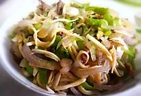 交瓜洋葱炒肉丝的做法