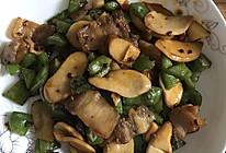 干煸五花肉杏鲍菇的做法