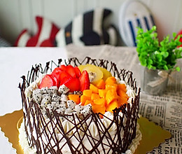8寸水果奶油生日蛋糕的做法