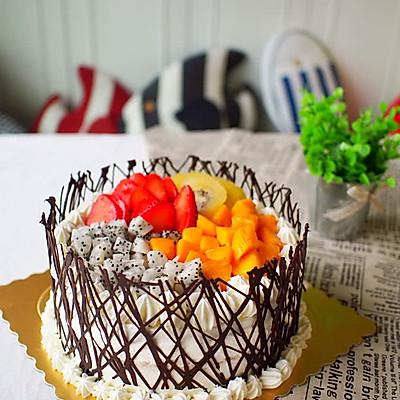 8寸水果奶油生日蛋糕