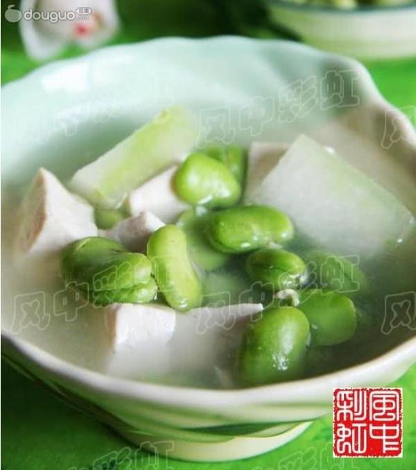 美丽厨娘-蚕豆冬瓜汤的做法