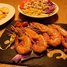 煎阿根廷红虾