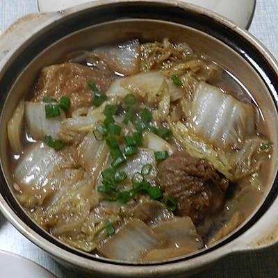 大白菜烧油面筋塞肉