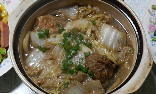 大白菜烧油面筋塞肉 的做法
