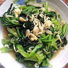 菠菜炒虾皮