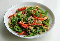 青红椒香干炒肉丝的做法