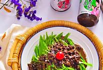 香菇麻酱拌荷兰豆的做法