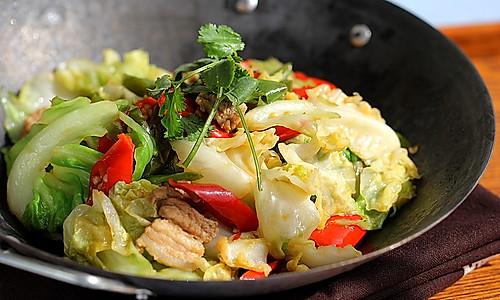 干锅圆白菜的做法
