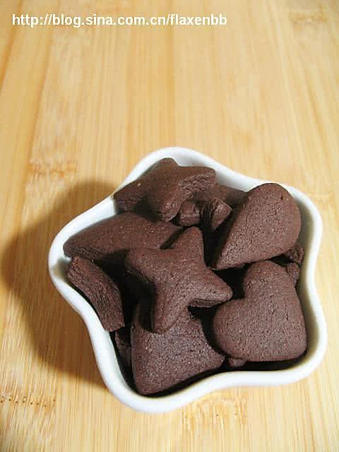 巧克力形状饼干的做法
