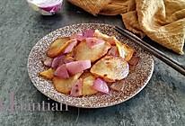 #冰箱剩余食材大改造#洋葱炒土豆片的做法