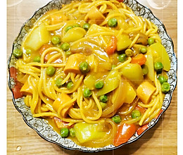 来一碗咖喱穿肠意大利面,爱上它的做法