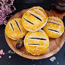 #520,美食撩动TA的心!#紫米馅老婆饼