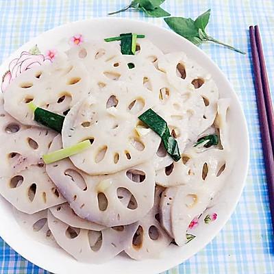 冬日里的清爽素菜--清炒藕片
