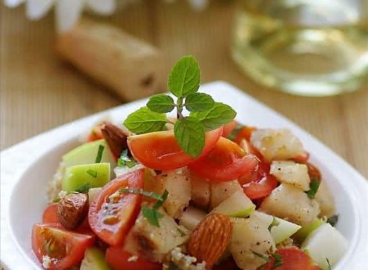 鱼粮满仓的健康沙拉 —— 添加营养黄金的麦香鳕鱼杏仁沙拉