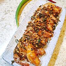 龙井炒了个虾