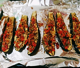 烤蒜蓉剁椒茄子的做法