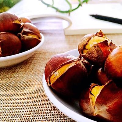 原味烤板栗——秋之味道