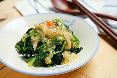 蟹肉汁菠菜