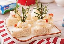 开花鲜虾融芝馒头的做法