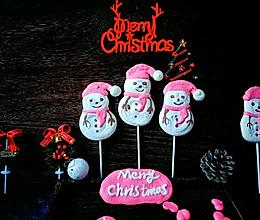#今天吃什么#圣诞节送小朋友的礼物,雪人棒棒蛋白糖~的做法