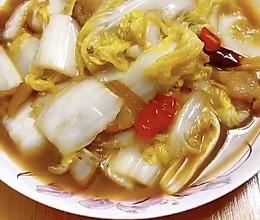 酸辣白菜炒肉的做法