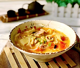 #精品菜谱挑战赛#玉米面番茄面片汤的做法