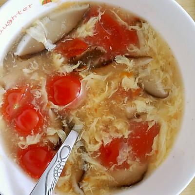 番茄香菇蛋花汤