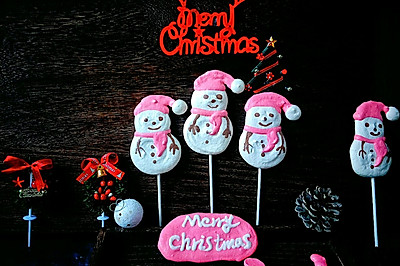 圣诞节送小朋友的礼物,雪人棒棒蛋白糖~