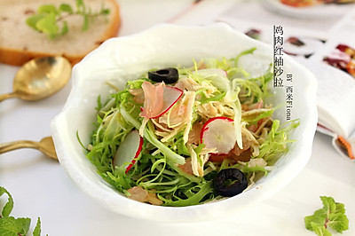 鸡肉红柚沙拉