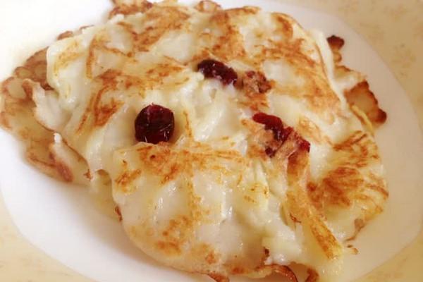 【早餐很重要之】蔓越莓奶香苹果饼的做法