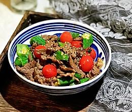 #春天肉菜这样吃#烧烤酱秋葵炒牛肉的做法