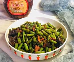 豇豆肉丝炒宝塔菜的做法