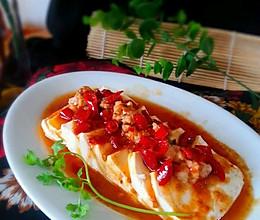 肉末剁椒蒸水嫩豆腐的做法