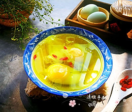 #春季减肥,边吃边瘦#荠菜花煮鸭蛋的做法