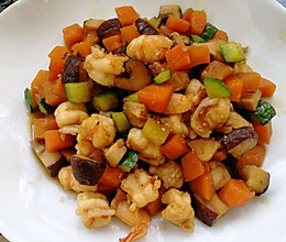 胡萝卜香菇虾仁的做法