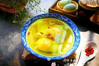 #春季减肥,边吃边瘦#荠菜花煮鸭蛋