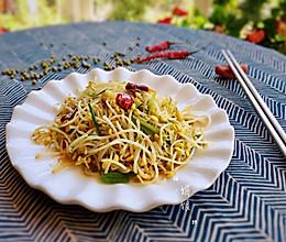 #520,美食撩动TA的心!#自发豆芽蒜蓉炒香脆可口的做法