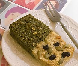 双色燕麦蛋糕|微波炉版