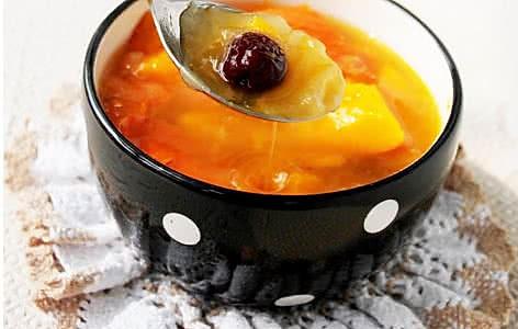 双红南瓜补血汤的做法