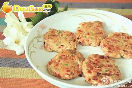 美味红椒芝士鸡肉茸饼~的做法