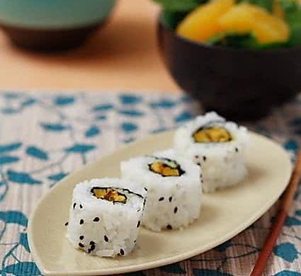 创新菜谱:咖喱天贝寿司